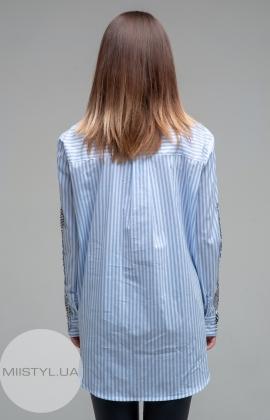 Блуза Lumina 6179 Белый/Голубой/Полоска