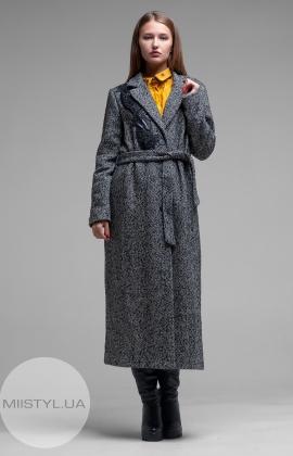 Пальто ANGYSIX 5106 Черный/Меланж