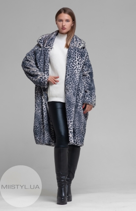 Пальто Barbara Aluisi Over 23 M Серый/Леопард