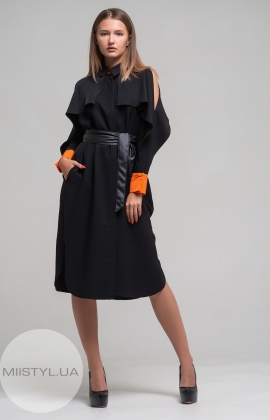 Платье Kedma 97727 Черный/Оранжевый