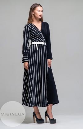 Платье Dojery 123733 Черный/Белый/Полоска