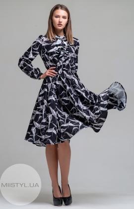 Платье F&K 3213 Черный/Серый/Принт