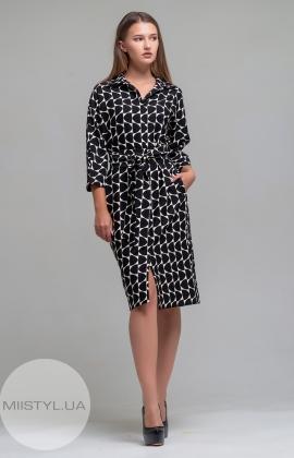 Платье Mira Mia 19k6022 Черный/Молочный/Принт