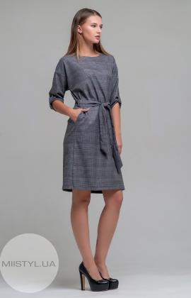 Платье Lady Morgana 4749 Серый/Красный/Клетка
