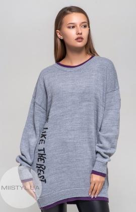 Туника Artistic 9103 Серый/Фиолетовый
