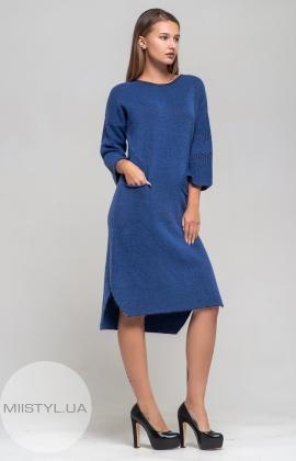 Платье Serianno 10C3070 Индиго/Люрекс