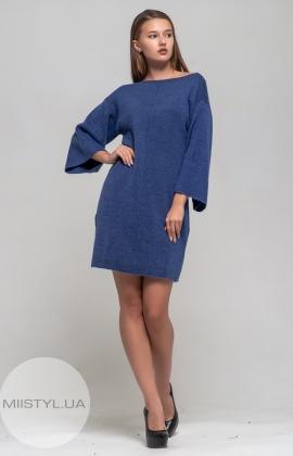 Платье Serianno 10C3048 Индиго/Люрекс