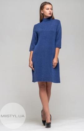 Платье Serianno 10С2792  Индиго/Люрекс