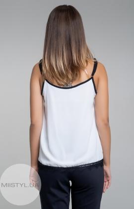 Блуза La Fama 1107 Белый/Черный