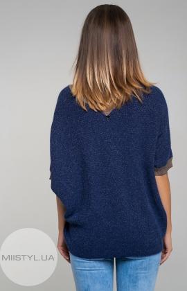 Джемпер короткий рукав  Serianno 10C4418 Темно-синий/Люрекс