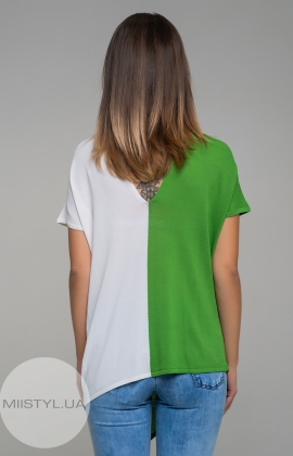 Блуза HZ 1647 Зеленый/Белый