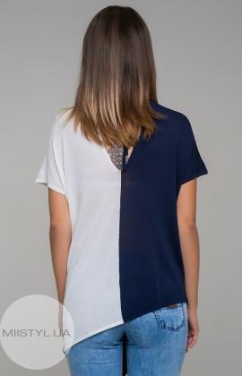Блуза HZ 1647 Темно-синий/Белый