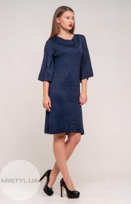 Платье Serianno 10С2690 Темно-синий/Люрекс