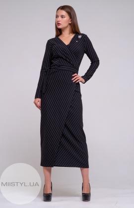 Платье Miss Lilium 19630 Черный/Белый/Полоска