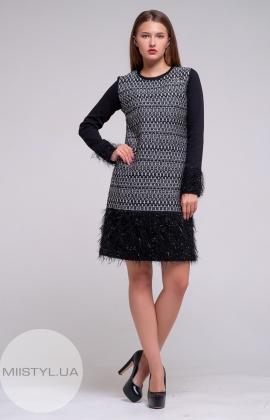 Платье La Julyet 6228 Черный/Принт