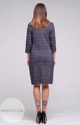 Платье Serianno 10С4246 Черный/Меланж