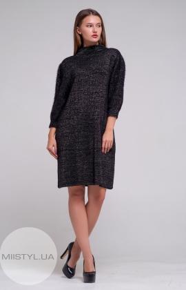 Платье Serianno 10C4568 Черный/Люрекс