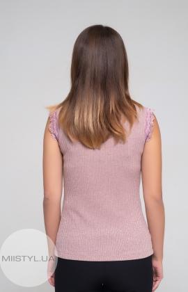 Блуза F&K 4261-1 Пудра/Люрекс