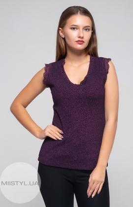 Блуза F&K 4261-1 Фиолетовый/Люрекс