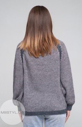 Джемпер Serianno 10C4692 Темно-серый/Пудра