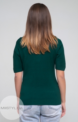 Джемпер короткий рукав HZ 3059 Зеленый