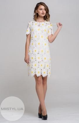 Платье Kedma 97382 Молочный/Желтый