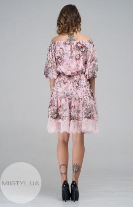Платье CHARMING 18115 Розовый/Принт