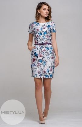 Платье La Fama 1111 Серый/Принт