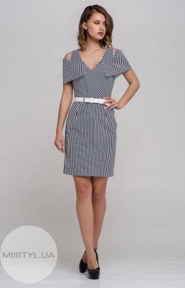 Платье Dojery 87542 Темно-синий/Белый/Полоска