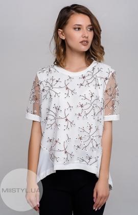 Блуза Moda Linda 1627 Белый/Принт