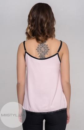Блуза La Fama 1107 Пудра/Черный
