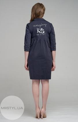 Платье Stella 7443-06 Темно-серый