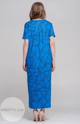 Платье Lisaasil 7584 Электрик/Принт