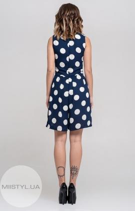 Комбинезон La Julyet 6096-1 Темно-синий/Белый/Горох
