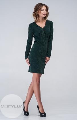Платье F&K3105 Изумрудный/Люрекс