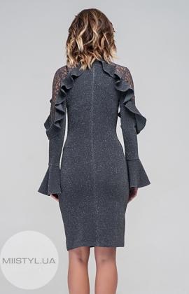 Платье La Julyet 6042 Серый/Люрекс
