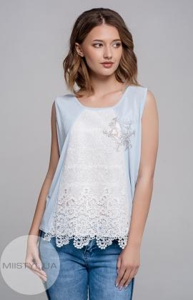 Блуза Serianno 10C2754 Голубая