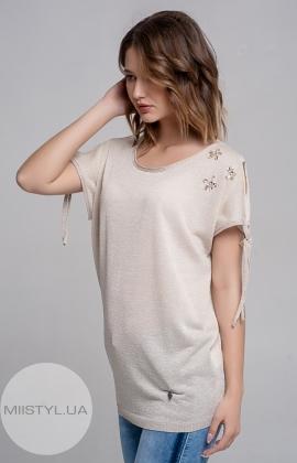 Блуза Serianno 10C4094 Бежевый/Люрекс