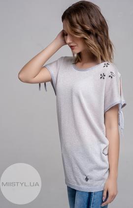 Блуза Serianno 10C4094 Светло-лиловый/Люрекс