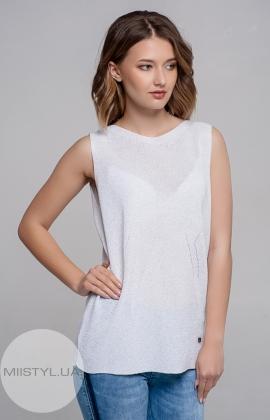 Блуза Serianno 10C4178 Белый/Люрекс