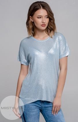 Блуза Serianno 10C3772 Голубой/Люрекс