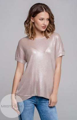 Блуза Serianno 10C3772 Пудра/Люрекс