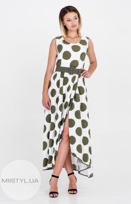 Платье La Julyet 5915 Хаки/Горох
