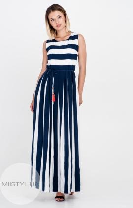 Платье La Julyet 5896 Темно-Синий/Белый/Полоска