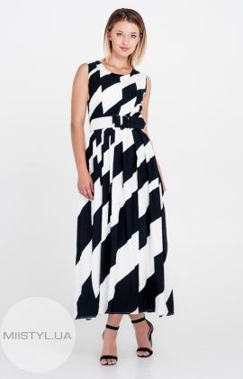 Платье La Julyet 5895 Черный/Белый