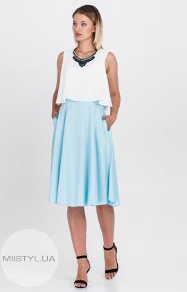 Платье La Julyet 5882 Белый/Голубой