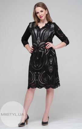 Платье Stella 7385-06 Черный/Серый