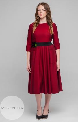 Платье Lady Form 10146 Бордовый