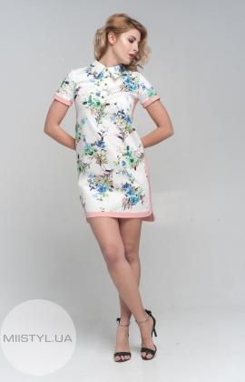 Платье Fen-ka 8774 пудра/принт
