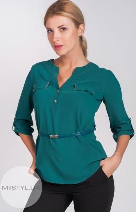Блуза X&T 8136 изумрудный